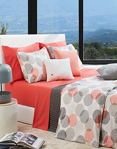 Absolutely loving this coral & gray color palette and this fun polka dot print!