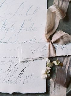 Such delicate calligraphy. Gorgeous. #weddinginvitation #stationary