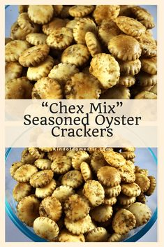These Chex Mix Seasoned Oyster Crackers are the perfect snack, delicious, easy, and inexpensive to make. I love the traditional Chex mix flavor. Chex Mix Flavors, Snack Mix Recipes, Appetizer Recipes, Snack Mixes, Sushi Recipes, Fun Recipes, Recipe Ideas, Holiday Recipes, Oyster Cracker Snack