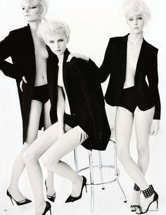 Irene Hiemstra Anabela Belikova, Anmari Botha, Nastya Sten by Mario Testino for Vogue Germany March 2014