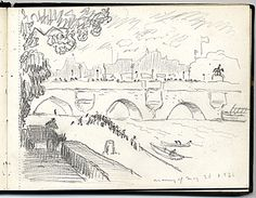 Citation: Travel sketchbook from Paris, France, 1931 . Harrison Cady papers, Archives of American Art, Smithsonian Institution.
