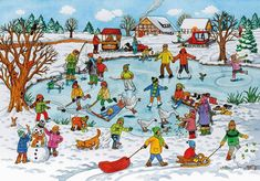 TOUCH this image: Lied: schaatsen, Lied: Ik wil sneeuw, Prentenboek: Bo en . by gertrude Silly Pictures, Hidden Pictures, Winter Pictures, Communication Orale, Picture Comprehension, Picture Story, Therapy Activities, Language Activities, Winter Sports