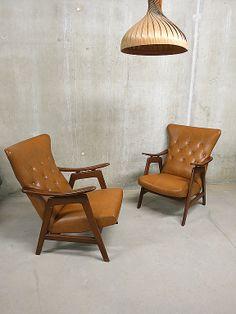 Scandinavische vintage lounge fauteuils / chairs Danish style