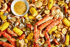 Seafood Boil with Cajun Seasoning Seafood Boil Recipes, King Crab Legs, Boiled Food, Food Spot, Best Comfort Food, Cajun Seasoning, How To Cook Shrimp, Fish And Seafood, Wine Recipes