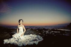 transparant wedding gown