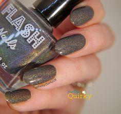 Grey Matter by UK indie Flash Nails. A mid grey holo nail polish. Really love this beauty