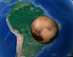 Brazil compared to Pluto Planet Map, United Nations Peacekeeping, History Memes, All In One App, Most Popular Memes, Bolivia, Solar System, High Quality Images, South America