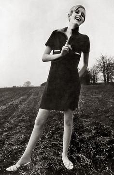 Fashion Icon Twiggy.  Sometime in the 1960s.