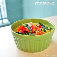 Sayur Godog Betawi – Betawi Vegetables in Coconut Milk