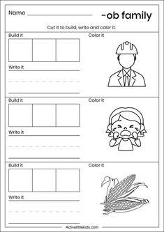 Kindergarten Reading Activities, Kindergarten Worksheets, Place Value Worksheets, Sentence Building, Good Readers, Phonological Awareness, Place Values, Word Families, Sentences