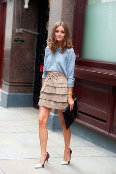 sweatshirt + flouncy skirt