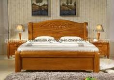 With a wooden bed you support a natural indoor climate and promote a restful, heal. Wood Bed Design, Bed Frame Design, Bedroom Bed Design, Diy Bed Frame, Modern Double Beds, Wall Painting Living Room, Bedroom Furniture, Furniture Design, Double Bed Designs