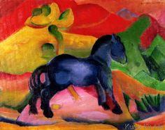 Franz Marc - Kleines blaues Pferd, 1912