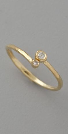 Jacque Aiche Double Diamond Waif Ring