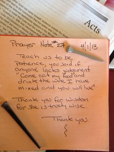 Prayer Note #27