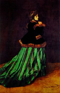 Claude Monet - Camille (The Woman in a Green Dress)