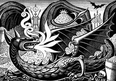 """Eric Fraser illustration - """"The Hobbit"""""""
