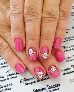 100 Fotos de Unhas decoradas Românticas Nail Art, Cute Nail Designs, Cute Nails, Finger, Motifs, Beauty, Nail Polish Colors, Nail Hacks, Nail Designs
