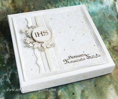 Dorota_mk First Communion Cards, Communion Cakes, First Holy Communion, Confirmation Cards, Handmade Invitations, Wedding Cards, Cardmaking, Birthday Cards, Diy And Crafts