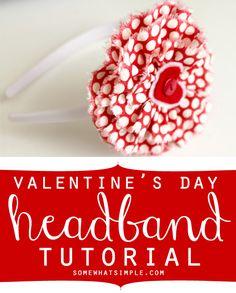 Darling Valentine's Day Headband- so easy!