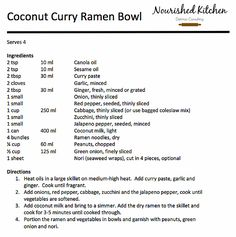 Coconut Curry Ramen Bowls | Nourished Kitchen | Home
