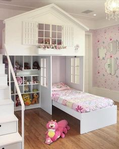 Baby bedroom colors beds ideas for 2019 Bunk Beds Small Room, Bunk Beds With Stairs, Kids Bunk Beds, Small Rooms, Baby Room Colors, Bedroom Colors, Bedroom Decor, Bedroom Rustic, Bedroom Ideas