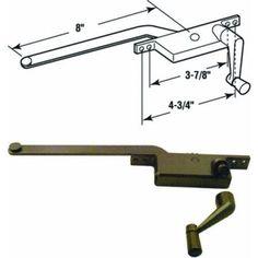 Slide-Co 17390-LB-8 Casement Operator, 8-Inch Square Type, Right Hand, Bronze, Multicolor