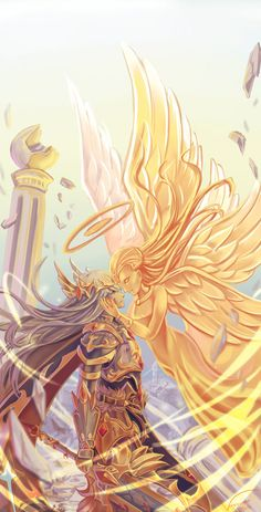 A Knight and His Angel by Vayreceane on DeviantArt