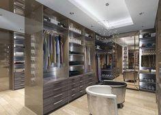 "1,753 curtidas, 9 comentários - Lisa Adams (@laclosetdesign) no Instagram: ""Separation of space in dressing rooms #closetgoals #laclosetdesign"""