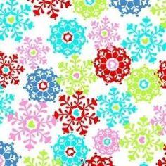 Ellen Medlock - Winter Love Frost - cotton fabric