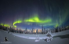 Aurora Borealis by Nicholas Roemmelt on Aurora Borealis over Pyhä Luosto National Park in northern Finland Arctic Circle, Winter Is Coming, Great Pictures, Aurora Borealis, Landscape Photographers, Stars And Moon, Night Skies, Where To Go, Finland
