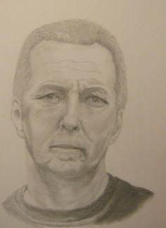 Eric Clapton pencil drawing.
