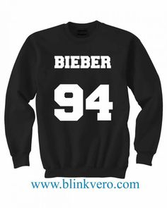 Bieber 94 Jersey Life Style Girls and Mens Sweatshirt size S to XXXL Unisex Adult