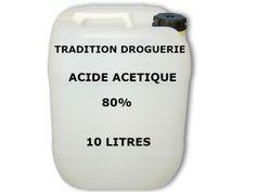 L'Acide Acétique 80% est un acide naturel qui est aussi connu par le vinaigre dans la vie courant mais à un pourcentage plus élevé.