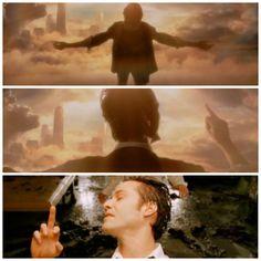 Keanu Reeves in Constantine flips off lucifer