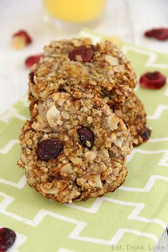 Healthy Breakfast Cookies (Gluten Free & Vegan)