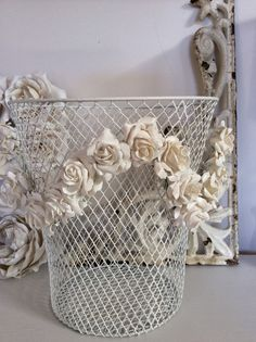 The Bluebirds are Nesting...: The look of vintage plaster flowers...