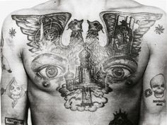 Part 1, The Guardian: From the 1960s to 1980s, Arkady Bronnikov visited correctional facilities all over the Soviet Union and photographed thousands of tattooed inmates to decode their body art – and helped solve many crimes by identifying criminals based on their ink. Here, you can learn what roses, snakes and cowboys really mean ...