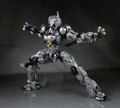 Silver Blade Bionicle figure. I am not all that interested in Bionicle but this is hands down the best Bionicle creation I've seen.