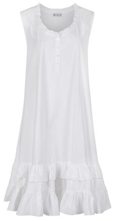 The 1 for U Sleeveless 100% Cotton Nightgown - Layla - White (Small)
