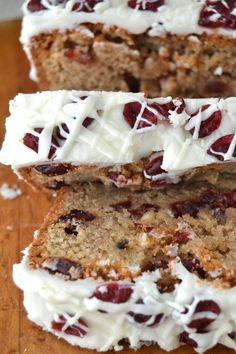 Better than Starbuck's Cranberry Bliss Bread Recipe #cranberry #bread #starbucks