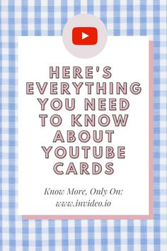 YouTube Marketing: YouTube cards have been a great way to garner engagement. Embrace the magical YouTube cards to take your YouTube game to the next level. Visit the InVide Blog and learn more! Poll Questions, Interactive Cards, Fundraising Events, Next Video, You Youtube, You Videos, Teaser, Youtubers, Everything