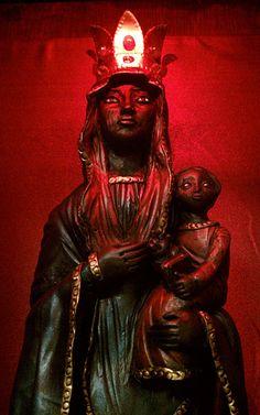 Erzulie Dantor--the Black Mother of Voudun Divine Mother, Mother Mary, Erzulie Freda, Voodoo Hoodoo, Haitian Art, Triple Goddess, Madonna And Child, Star Wars, African Diaspora