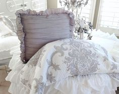 FRENCH COUNTRY COTTAGE PAISLEY GRAY TAUPE LAVENDER BLUE PINK BEDDING