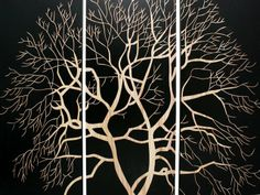 Home :: Interior Wall Art :: Mangowood Wall Triptych Carved Artwork :: Bamboo, Bird, Flower,Leaf & Tree Nature Range :: Carved Triptych Wood...