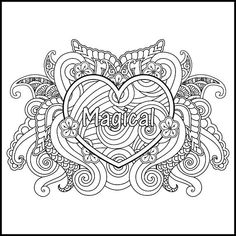 I AM Magical - Adult Coloring Page - Inspiring Coloring Page - Positive Coloring Page - Printable Coloring Page - Coloring Page for Adults - Love Coloring Pages, Pattern Coloring Pages, Adult Coloring Book Pages, Printable Adult Coloring Pages, Coloring Sheets, Coloring Books, Best Color, To Color, Free Adult Coloring