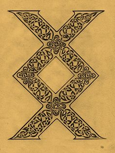 Viking symbol called inguz, meaning where there is a will there is a way