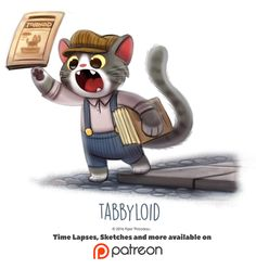 Day 1421. Tabbyloid by Piper Thibodeau on ArtStation.