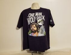 One Man Wolf Pack The Hangover Movie Adult Blue XL T-Shirt #Caesars #GraphicTee