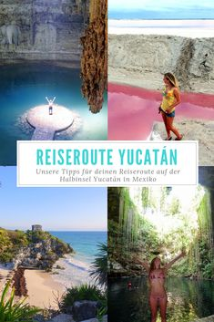 Yucatán landmarks in Mexico - Are you planning a round trip on the Mexican peninsula Yucatán? We were in Mexico for 2 months and - Europe Destinations, Travel Destinations Beach, Beach Travel, Cozumel, Belize, México City, Nightlife Travel, Mexico Travel, Culture Travel